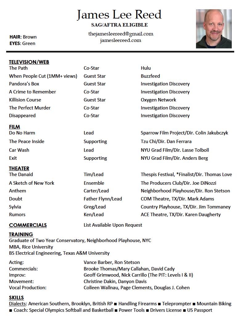 James Reed Resume 2017 – James Lee Reed